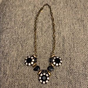 Jcrew Blue and Crystal Statement Necklace